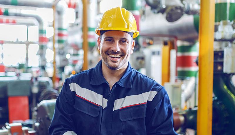 smiling male mechanic