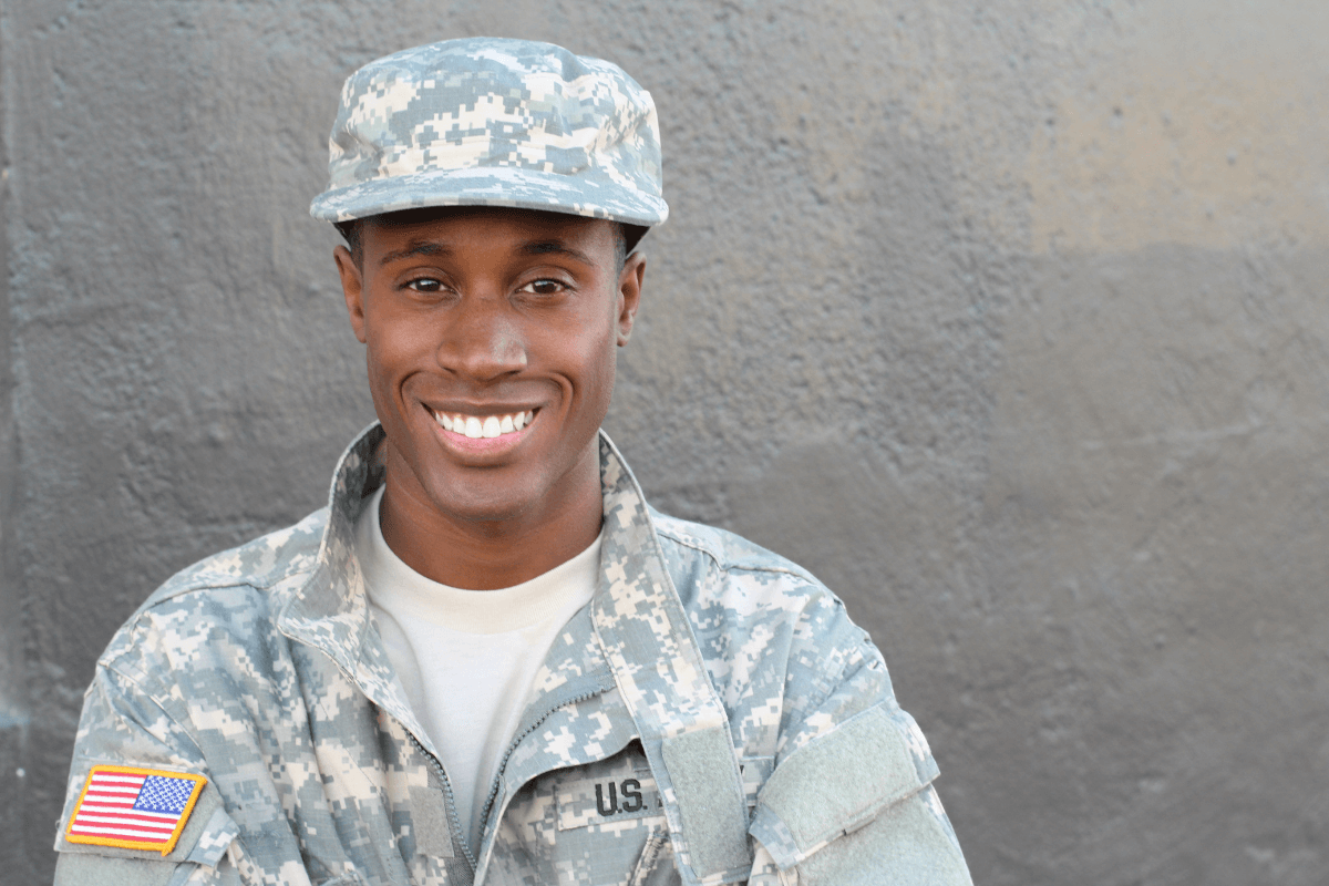 young man in military attire